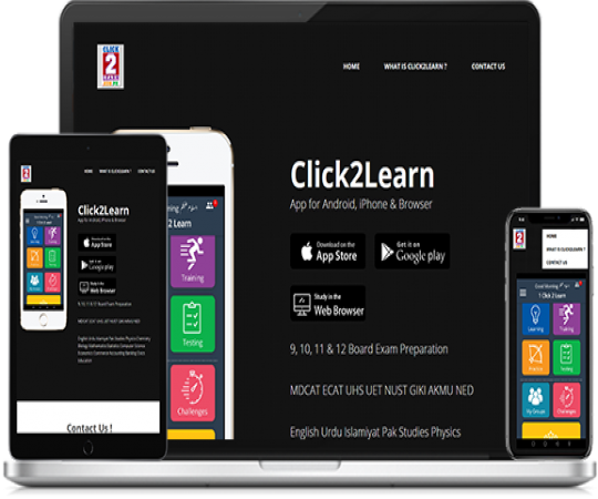 Brought learning to fingertips with Click2learn mobile app