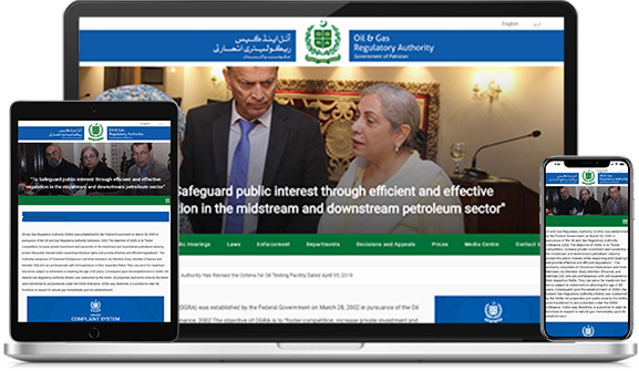 BUILT A SECURE CUSTOM WEBSITE FOR OIL & GAS REGULATORY AUTHORITY