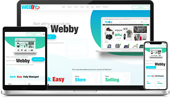Simplified eCommerce solutions with website builder Webby